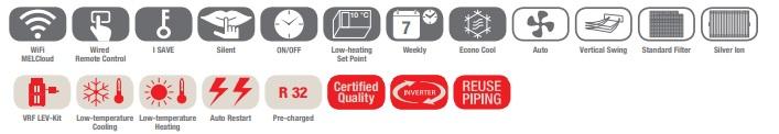 klimatizacia Mitsubishi EF ikony - www.klima-shop.sk